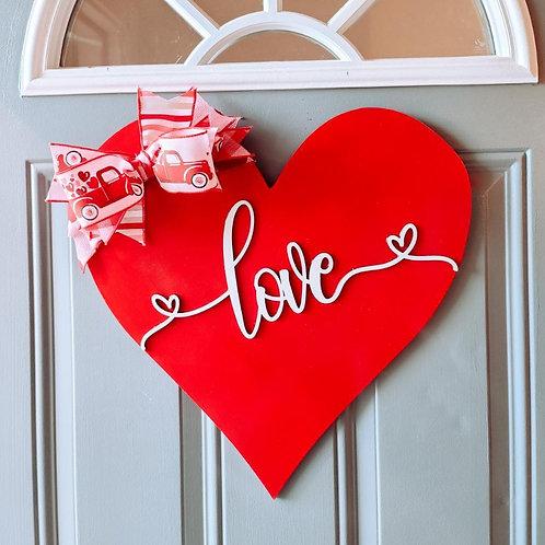 """Heart Door Hanger 18"""""""