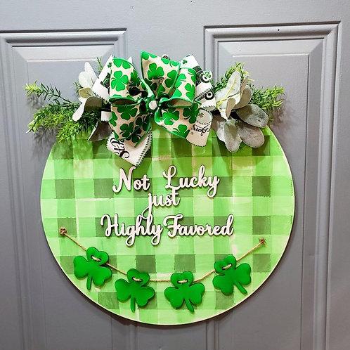 DIY St. Patrick's Day Door Hanger