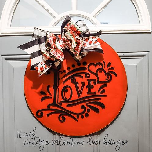 """16"""" Vintage Valentine Door Hanger"""