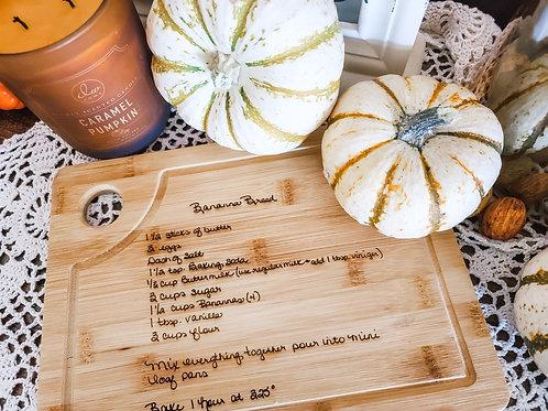 Recipe Cutting Board