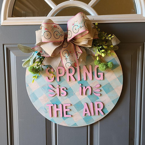 DIY Spring Door Hanger