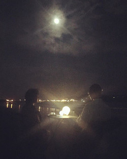 夜の海Cafe