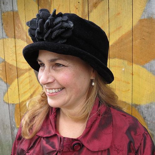 Victorian Hat with Fleece Flower