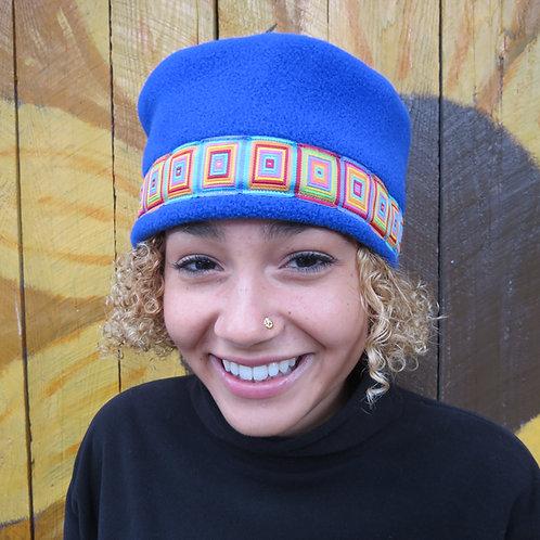 Blue Adjustable Pillbox Hat
