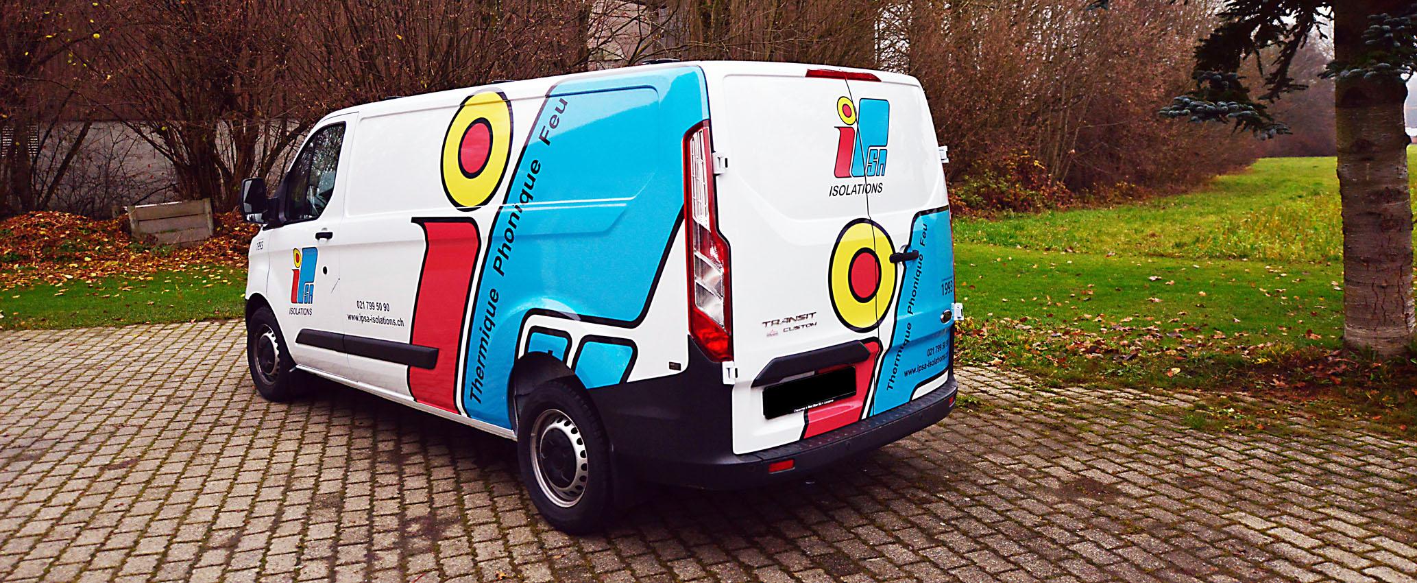 Marquage véhicule d'entreprise.