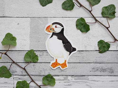 Silverpasta illustrated puffin vinyl sticker 10cm