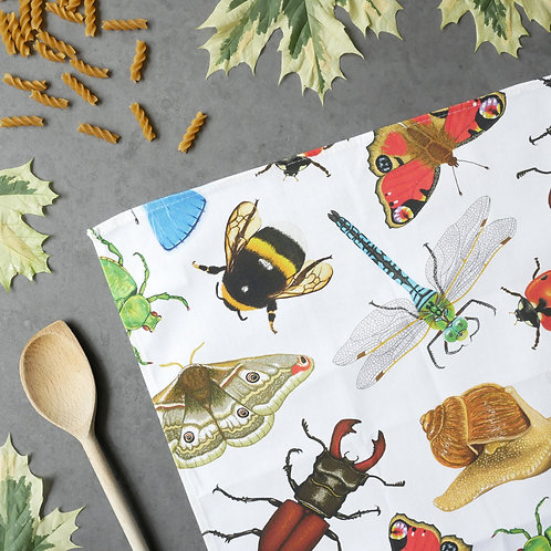 British Invertebrates Tea Towel