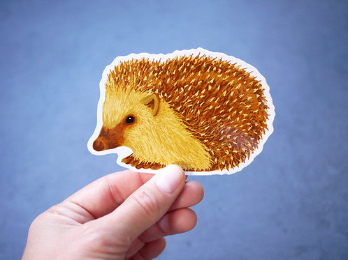 Silverpasta hedgehog vinyl sticker 10cm