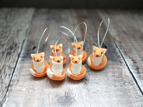 Handmade Fox Christmas Tree Decorations