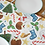 Christmas table runner designed by Jess Smith from Silverpasta Crafts