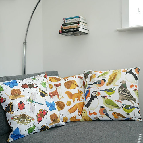 Set of British Wildlife Cushion Covers