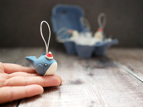 Handmade Whale Christmas Tree Decorations