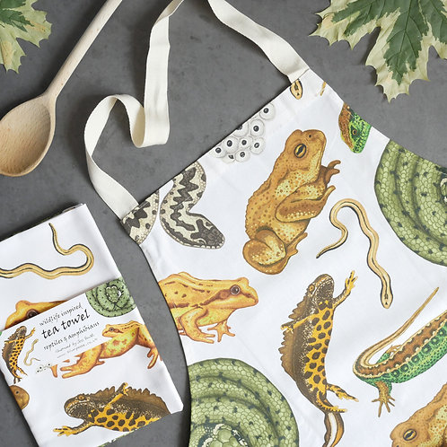 Reptiles & Amphibians Apron and Tea Towel Set