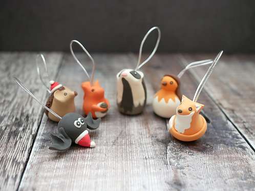 Handmade Woodland Christmas Tree Decorations