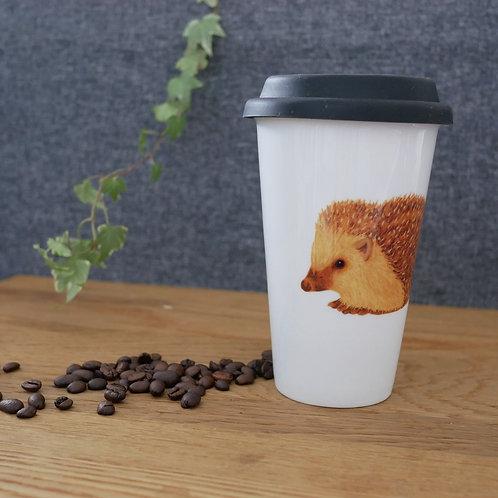 Hedgehog Ceramic Travel Mug