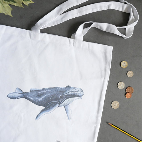 Humpback Whale Cotton Tote Bag