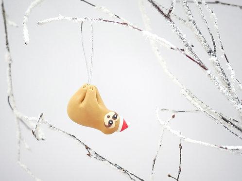 Handmade Sloth Christmas Tree Decorations