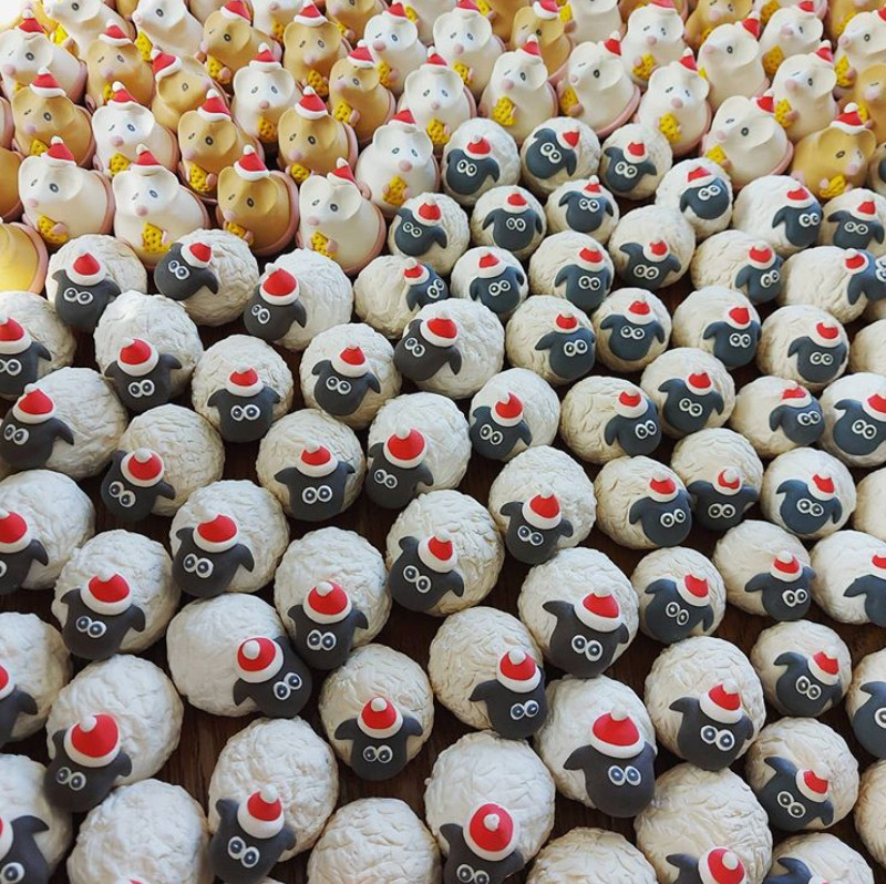Christmas handmade sheep decorations