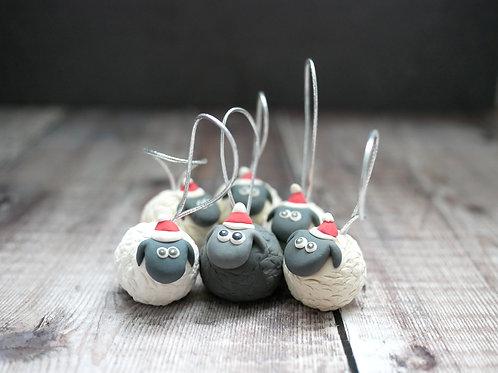 Handmade Black Sheep of the Family Christmas Tree Decorations
