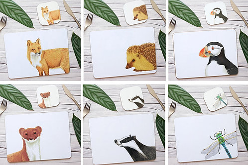 Mixed Animal Table Place Mats
