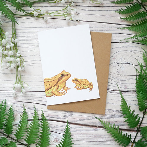 Mother's day frogs card made from 100% recycled paper designed by Jess Smith from Silverpasta Crafts