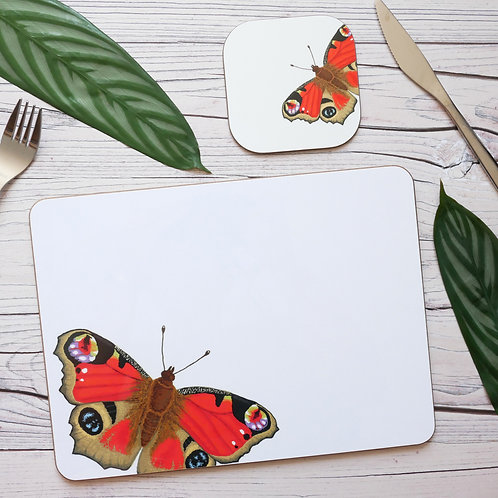 Peacock Butterfly Table Place Mats