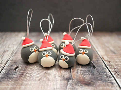 Handmade Penguin Christmas Tree Decorations