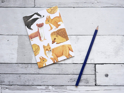 Silverpasta recycled notebook illustrated mammals
