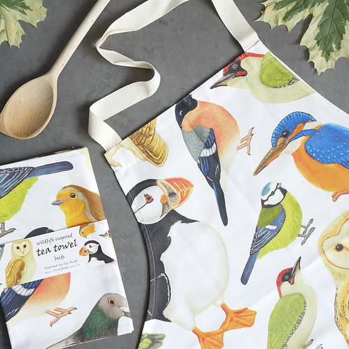 Birds Apron and Tea Towel Set