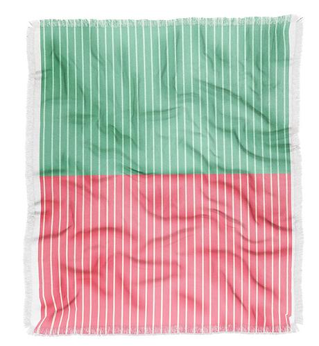 Color Block Lines VI Throw Blanket