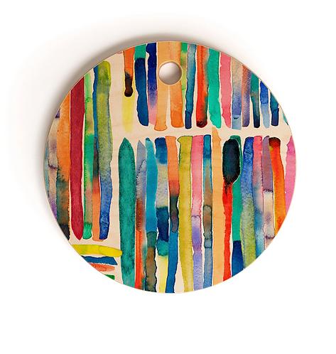 Bold Bright Stripe Multi Cutting Board