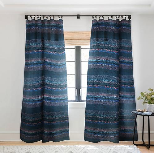Little Textures Dots Navy-Sheer Curtain