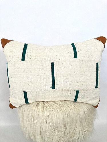 Dashing in Green Lumbar Mudcloth