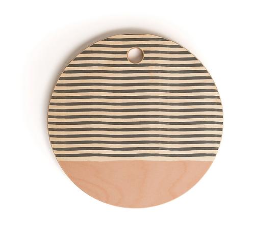 Watercolor Stripe Blush Cutting Board