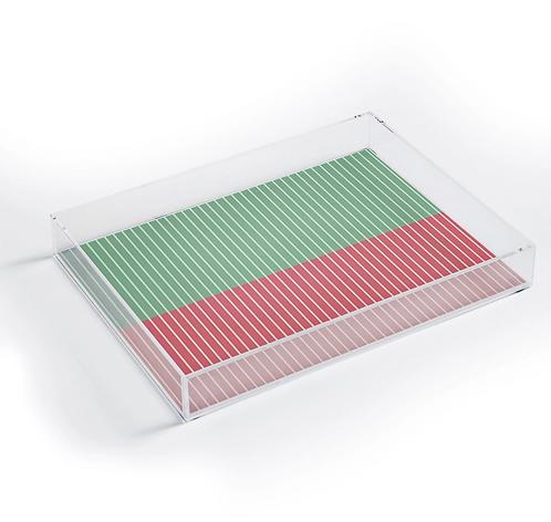 Color Block Lines VI Acrylic Tray