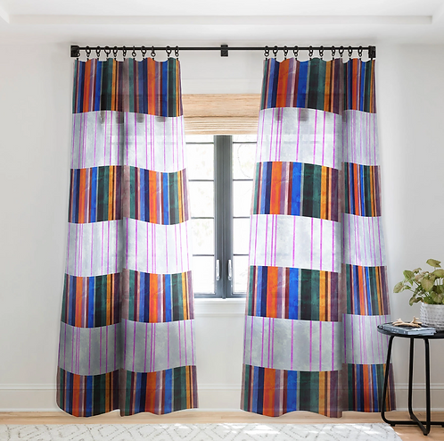 Merri Stripe 1A-Sheer Curtain