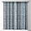 Thumbnail: Bold Grid Plaid Navy-Sheer Curtain