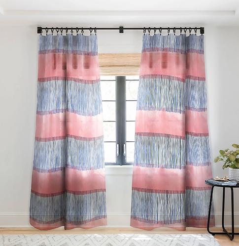 Minimal Stripe Pink-Sheer Curtain
