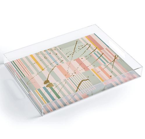 Lisbon Stripe Acrylic Tray