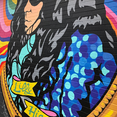Detail of Lilly Hiatt Mural, 2020