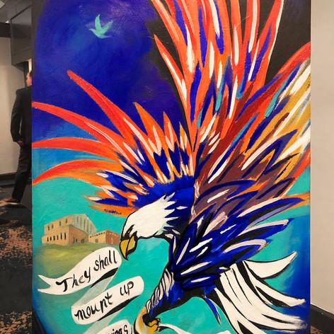 Finished Eagle Painting, 2020