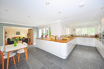Vinyl flooring in a kitchen