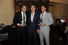Marco Francescoli y Kevin Waissmann with Edgardo De Fortuna en los Awards Ceremony