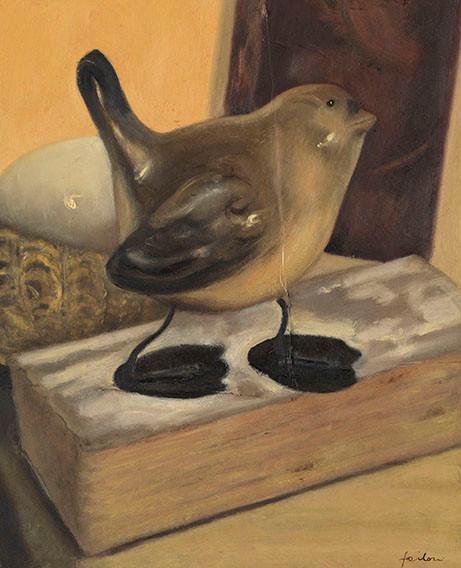 Senza titolo, 2011 olio su carta su tavola, cm 39,5 x 42