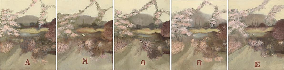 Senza titolo, 2012, olio su carta su tela, cm 25 x 20 ognuno