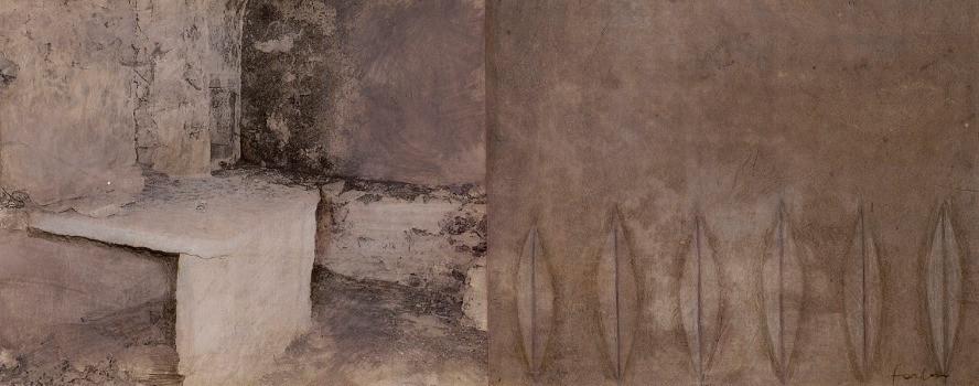 Senza titolo, 2006, tecnica mista su carta, cm 28 x 62