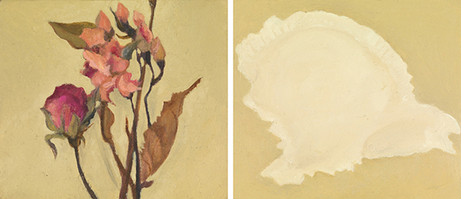 Senza titolo, 2019, olio su carta su tela, cm 9 x 12 ognuno