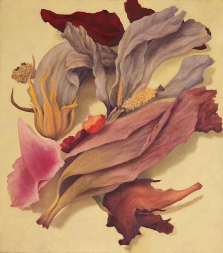 Senza titolo, 2018, olio su carta su tela, cm 120 x 105