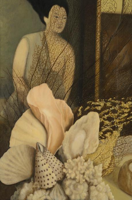 Senza titolo, 2012, olio su carta su tela, cm 120 x 80