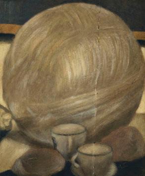 Senza titolo, 2010, olio su carta su tela, cm 30 x 25